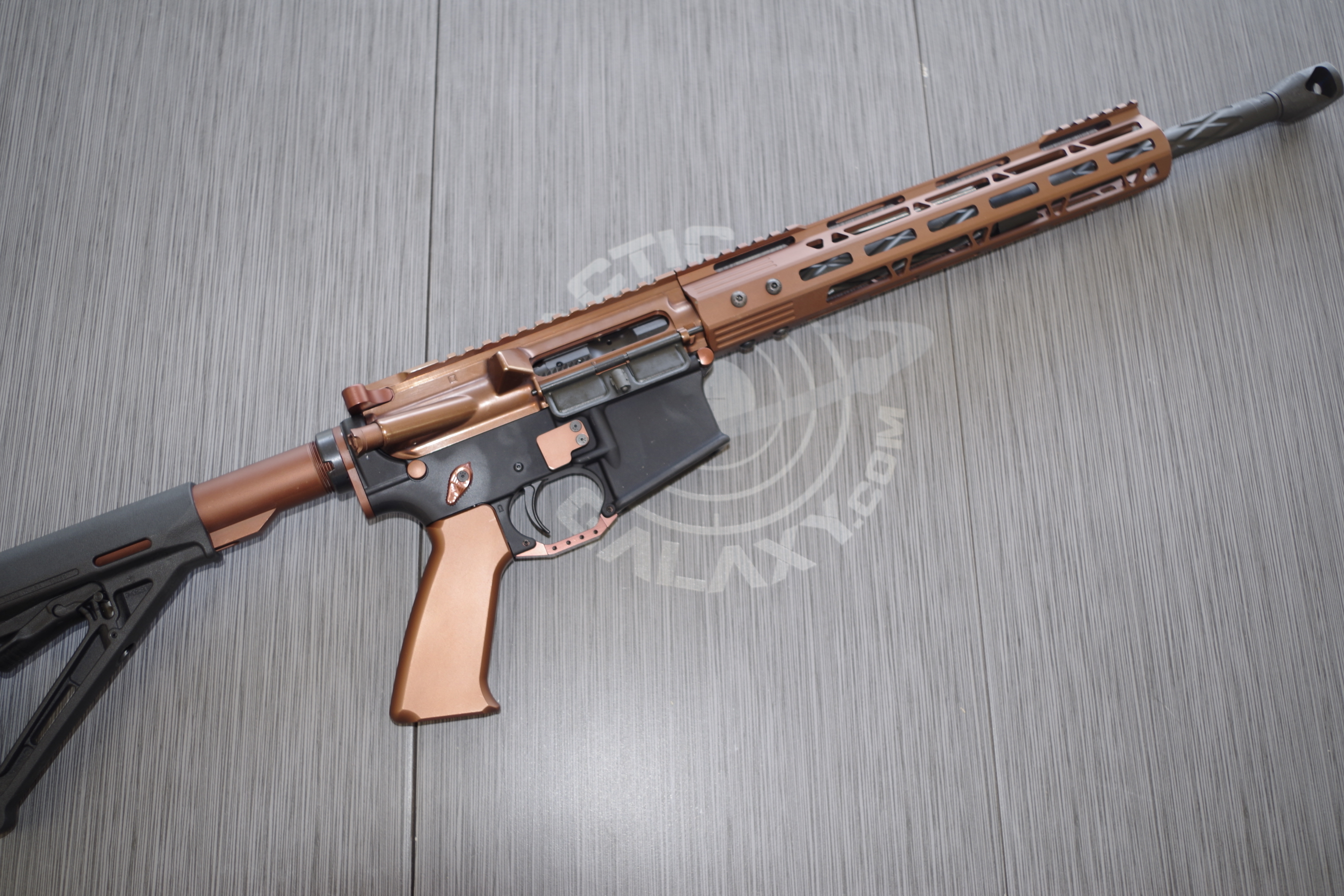 BROWN ANODIZED AR-15 GUN PARTS