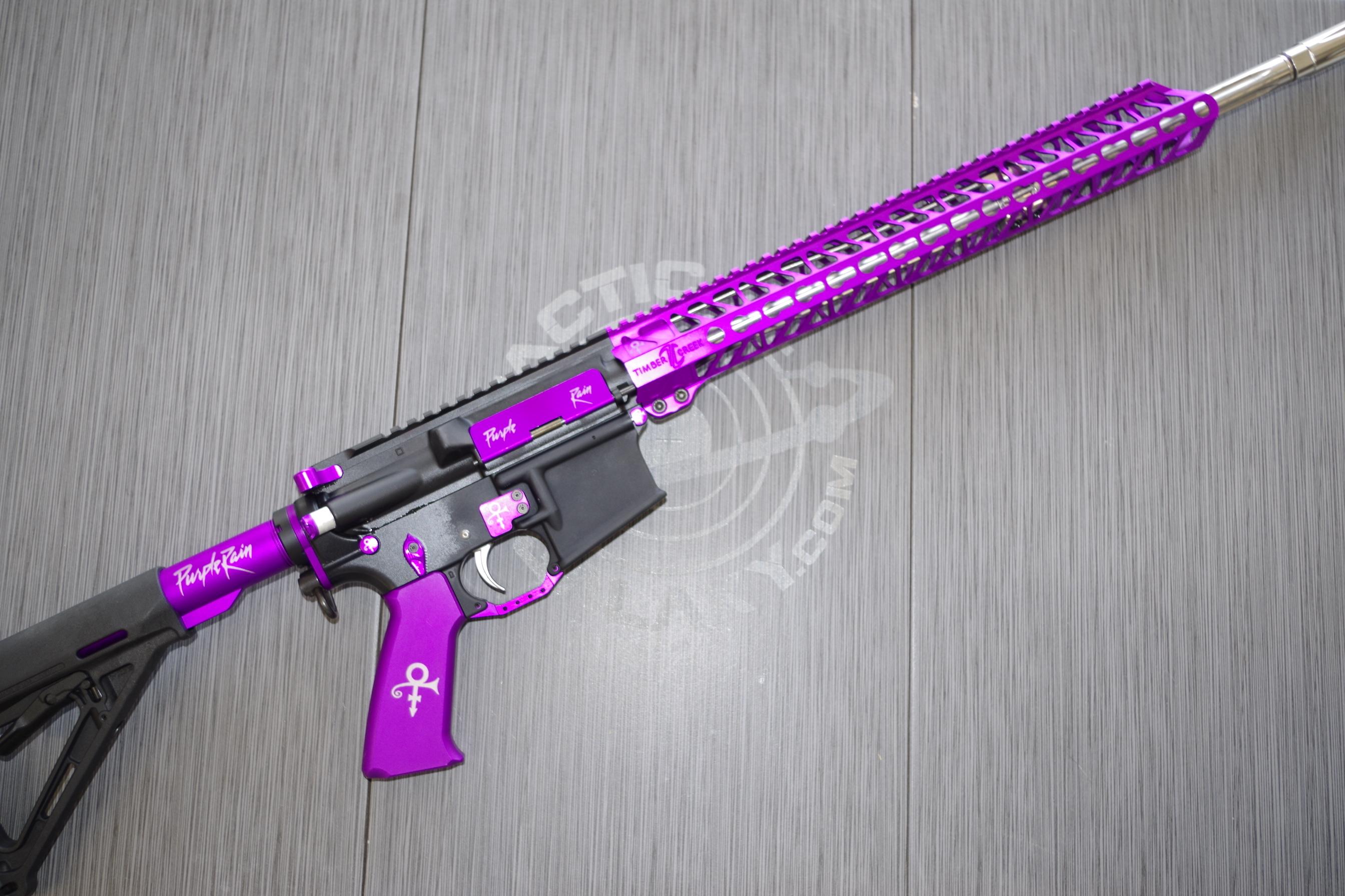 PURPLE ANODIZED AR-15 GUN PARTS
