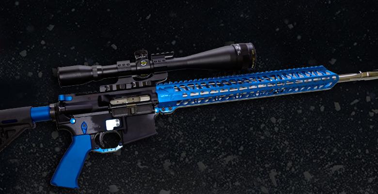 ALL BLUE ANODIZED AR-15 GUN PARTS