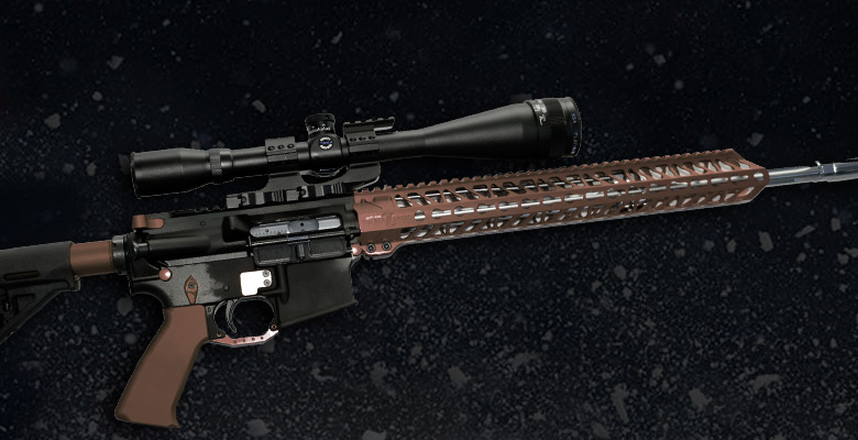 BROWN ANODIZED AR-15 GUN PARTS