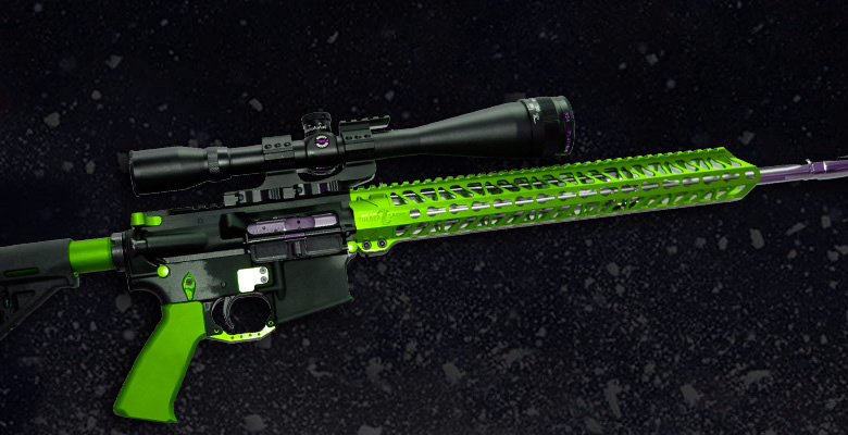 GREEN ANODIZED AR-15 PARTS