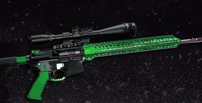 ALL GREEN ANODIZED AR-15 GUN PARTS