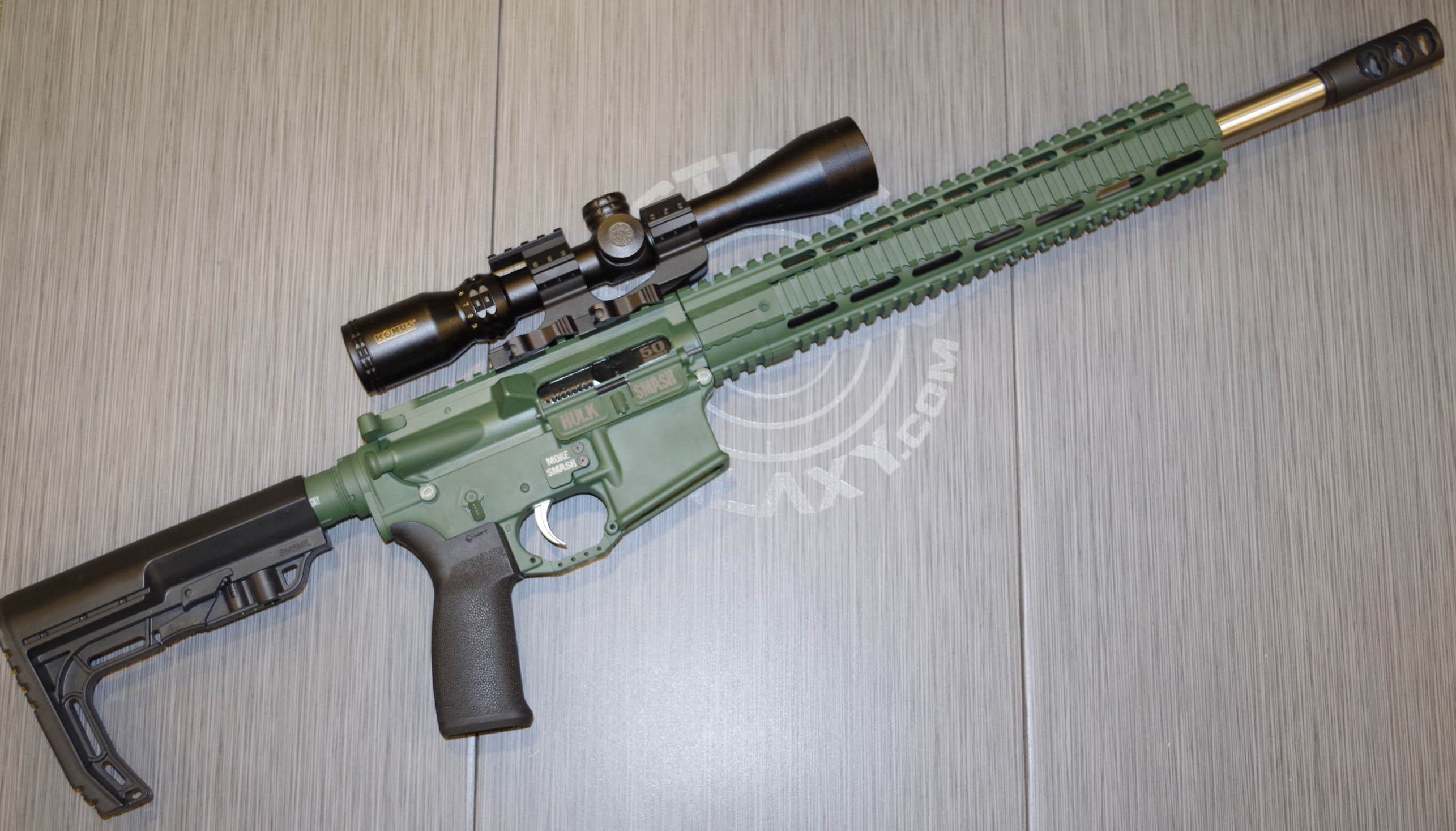 HIGHLAND GREEN CERAKOTE AR-15 PARTS