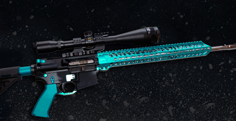 ALL TEAL ANODIZED AR-15 GUN PARTS