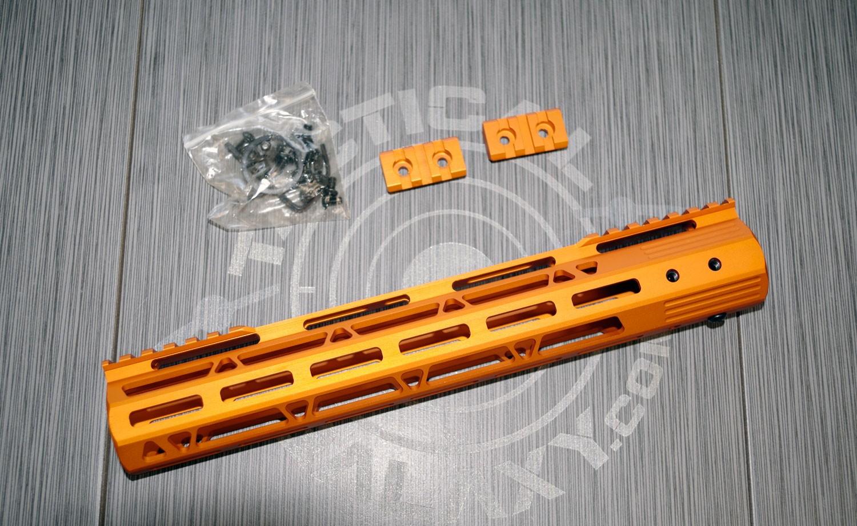 AR-15 ORANGE ANODIZED HANDGUARD 12 INCH