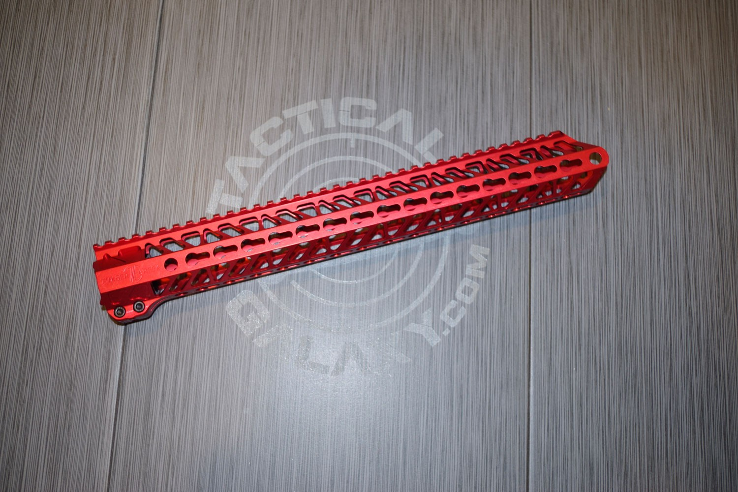 AR15 Red Anodized ENFORCER 15 INCH HAND GUARD RAIL