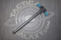 AR15 Ambidextrous Charging Handle with Teal Anodized Latches