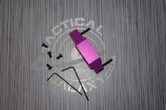 AR15 Blood Moon Purple Anodized enhanced trigger guard