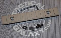 "FDE Flat Dark Earth Cerakote 5"" picatinny rail"