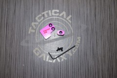 2 PC BUTTON FOR AR15 BLOOD MOON PURPLE ANODIZED
