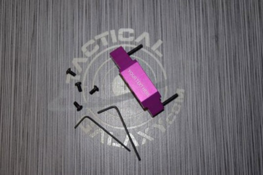 AR-15 BLOOD MOON PURPLE Anodize enhanced trigger guard With Custom Text or Logo.