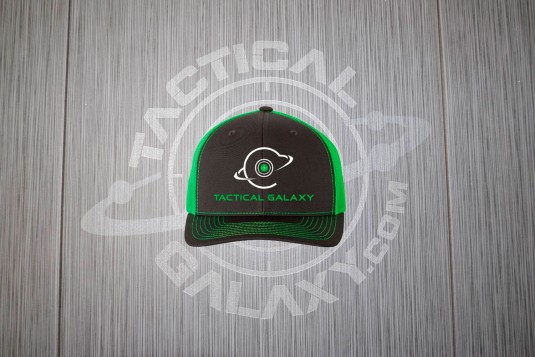 TACTICAL GALAXY BACK AND GREEN TRUCKER HAT