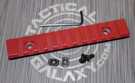"Crimson Red Cerakote 5"" picatinny rail"
