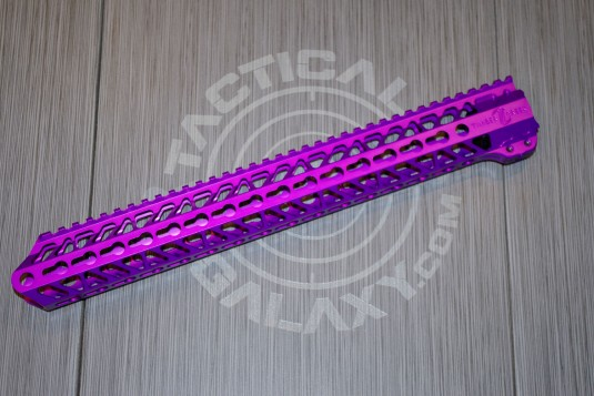 AR 15 Purple Anodized ENFORCER 15 INCH HAND GUARD RAIL