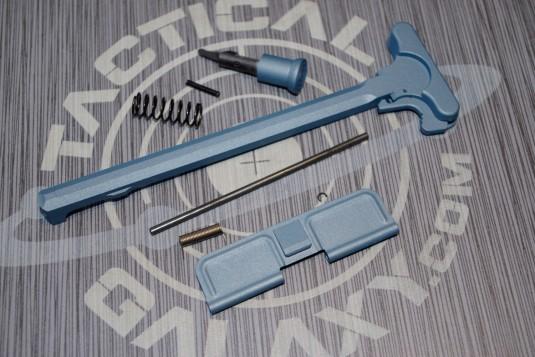 AR15 TITANIUM BLUE CERAKOTE 3PC UPPER PARTS KIT