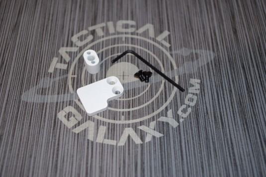 AR15 2 PC BUTTON WHITE CERAKOTE-BLANK