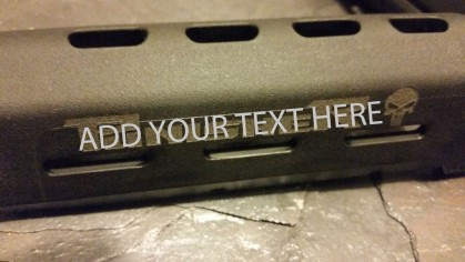 AR15 / M16 Magpul Moe Handguard With Custom Text