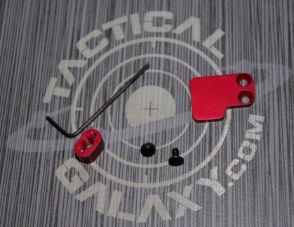 Red Anodized AR-15 2PC Oversized Magazine Extended Release Button