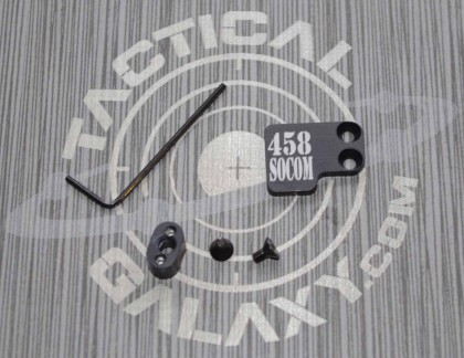 AR-15 2PC Oversized Magazine Extended Release Button - 458 SOCOM