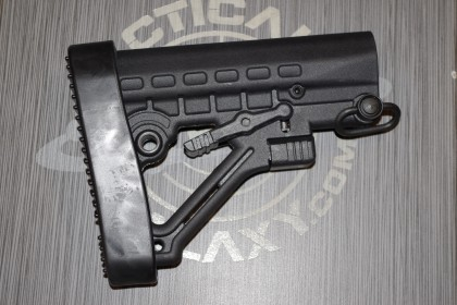 AR 15 mil-spec M4 style six position buttstock with QD - black