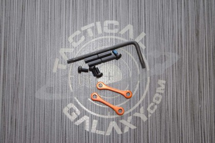 AR15 / AR-10 Orange Anodized Anti Walk Hammer Trigger Pins