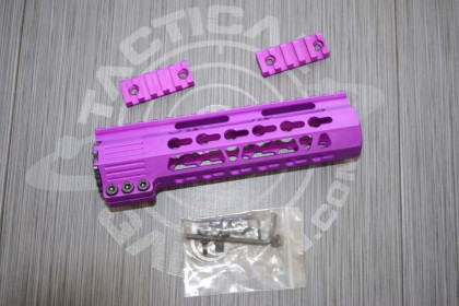 AR15 Blood Moon Purple Anodized CLAMP-ON KEYMOD FREE FLOAT HAND GUARD