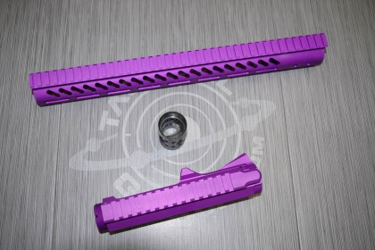 "Anodized Blood Moon Purple AR-15 STRIPPED BILLET UPPER RECEIVER & 15"" ULTRALIGHT SERIES M-LOK HANDGUARD COMBO SET"
