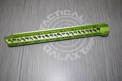 AR15 Green Anodized ENFORCER 15 INCH HAND GUARD RAIL