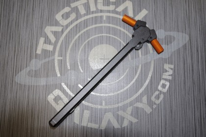 AR15 Ambidextrous Charging Handle with Orange Anodized Latches
