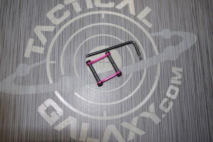 AR15 / AR-10 Pink Anodized Anti Walk Hammer Trigger Pins