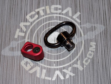 Red Anodize rail mount QD swivel ( M-lok )