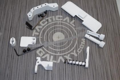 white cerakote ar15 parts