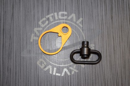 AR15 Orange Anodized QD END PLATE