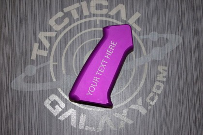 AR15 SLICK SIDE ALUMINUM PISTOL GRIP BLOOD MOON PURPLE CUSTOM TEXT OR LOGO