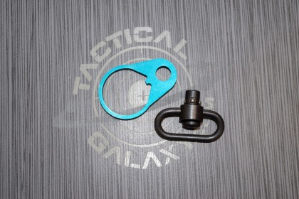 AR 15 Teal Anodized QD END PLATE