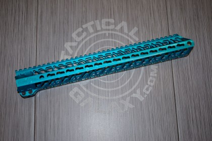 AR-15 Teal Anodized ENFORCER 15 INCH HAND GUARD RAIL