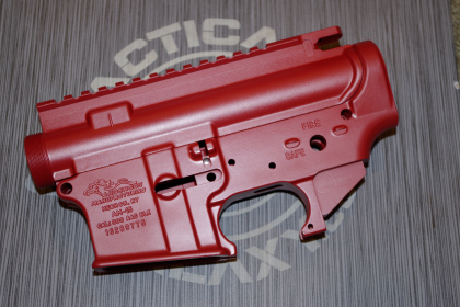 AR15 LOWER and UPPER COMBO SETS CRIMSON RED CERAKOTE