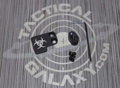 AR-15 2PC Oversized Magazine Extended Release Button - Biohazard