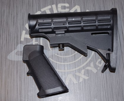BLACK OEM BUTTSTOCK and GRIP