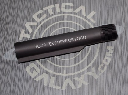 Black AR15 / M16 / M4  Buffer Extension Tube  With Custom Text