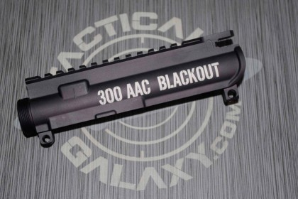 AR-15 M16 UPPER RECEIVER -300 AAC BLACKOUT large logo Caliber marker