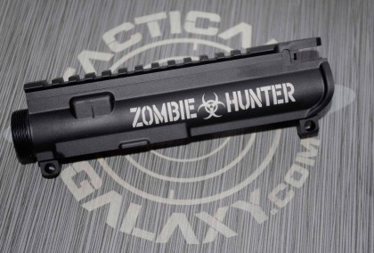 AR-15 M16 UPPER RECEIVER -ZOMBIE HUNTER BIO HAZARD
