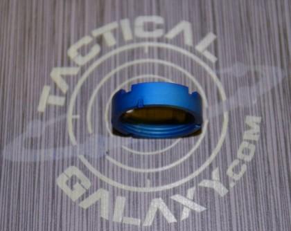AR15 Blue Anodized MilSpec Castle Nut Locking Nut For 223