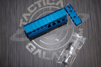 AR15 Blue Anodized 4 INCH HAND GUARD RAIL