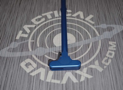 AR15 Blue Anodized charging handle  With Custom Text or Logo.