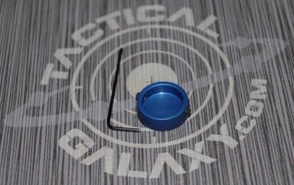 AR15 Blue Anodized  FORWARD ASSIST CAP  With Custom Text or Logo.