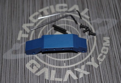 AR15 BLUE Anodized enhanced trigger guard With Custom Text or Logo.