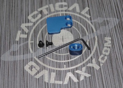 AR15 2 pc button BLUE ANODIZE With Custom Text or Logo.