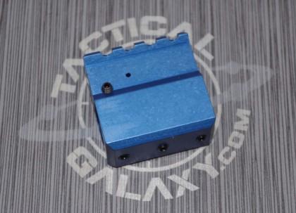 AR-15 BLUE ANODIZED ADJUSTABLE GAS BLOCK FOR AR15