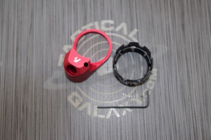 AR Enhanced Castle Nut & Extended End Plate Red Anodized